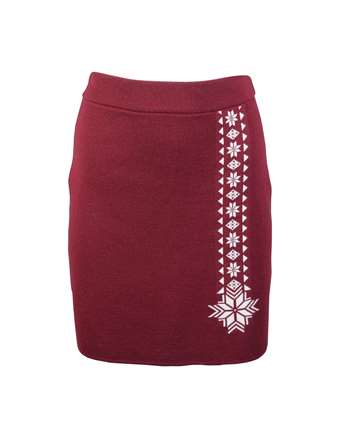 Dale of Norway Geilo Skirt - Red/Off White