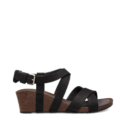 Teva Mahonia Wedge Cross Strap W - Black - Damesandal