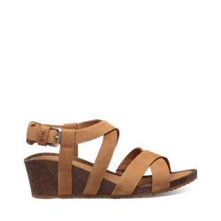 Teva Mahonia Wedge Cross Strap W - Chipmunk - Damesandal