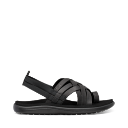 Teva Voya Strappy Leather W - Black - Damesandal