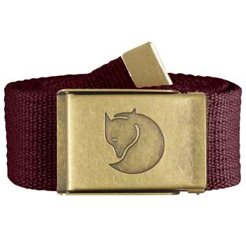 Fjällräven Canvas Brass Belt [Dark Garnet] 4 cm