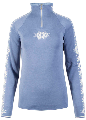 Dale of Norway Geilo Feminine Sweater - Ice Blue/White