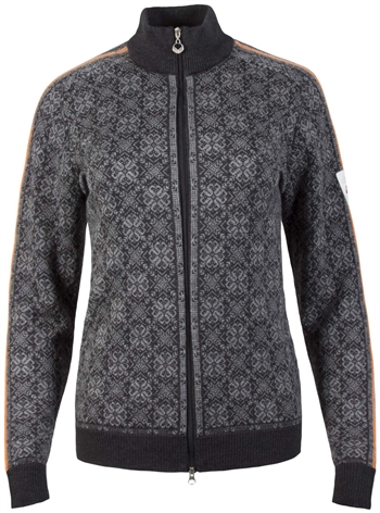 Dale of Norway Frida Feminine Jacket - Dark Charcoal/Smoke/Orange Peel