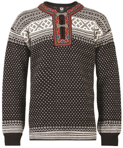 Dale of Norway Setesdal Unisex Sweater - Black/Off-White