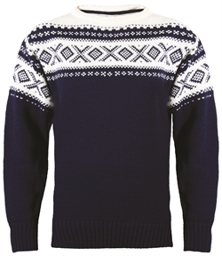 Dale of Norway Cortina Unisex Sweater - Navy/Off-White