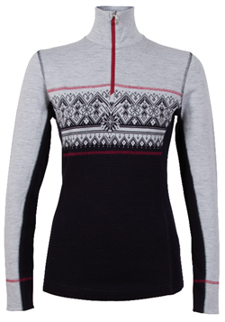 Dale of Norway Rondane Feminine Sweater - Navy/Grey/Red