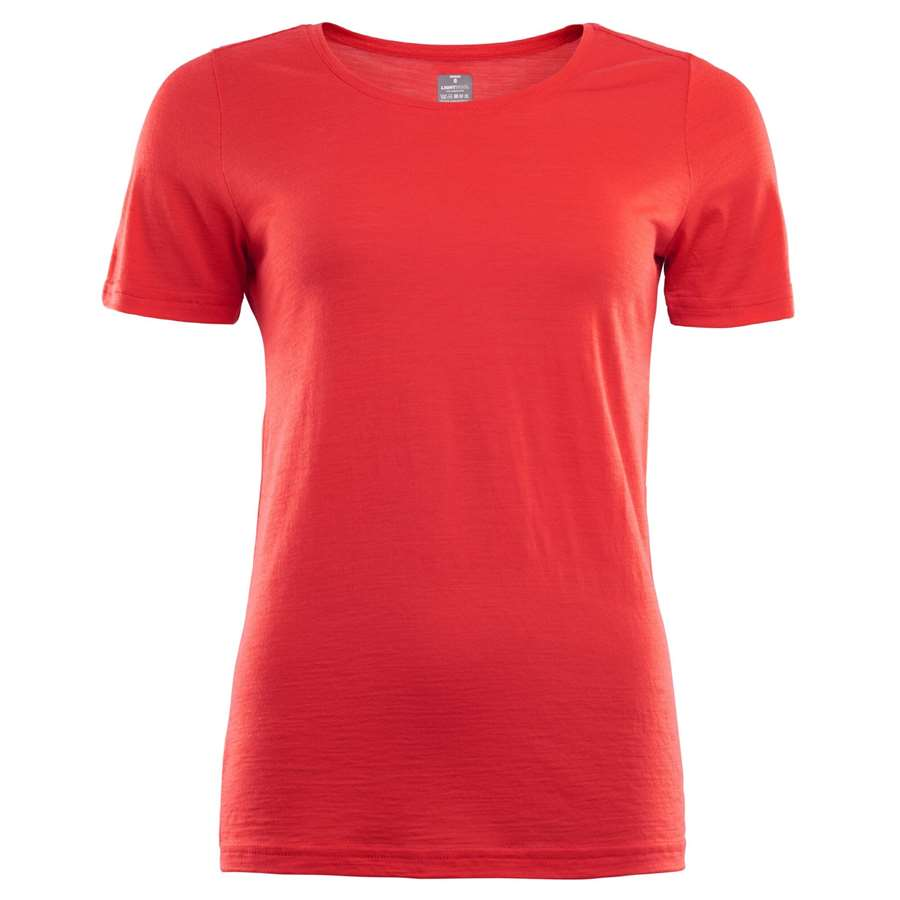 Aclima Lightwool T-Shirt Woman - High Risk Red