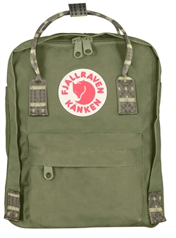 Fjällräven Kånken Mini [Green/Folk Pattern]