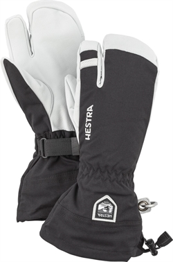 Hestra: Army Leather Heli Ski 3-finger [Black]