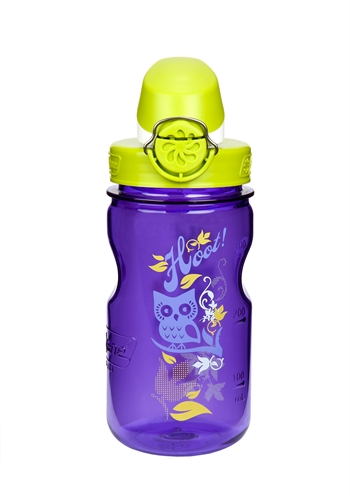 Nalgene: Kids On The Fly - Purple Bottle With Owl Graphic And Green Cap