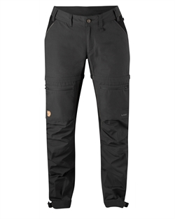Fjällräven Abisko Lite Trekking Zip-Off Trousers Women Regular [Dark Grey/Black]