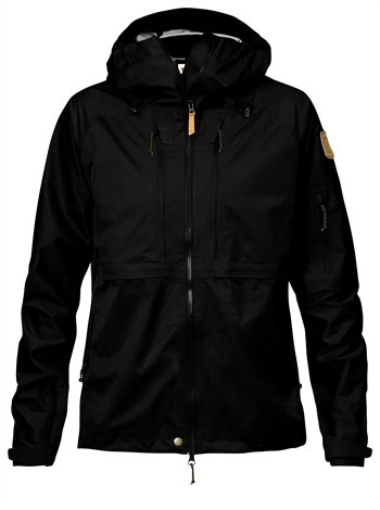 Fjällräven: Keb Eco-Shell Jacket Women - Black