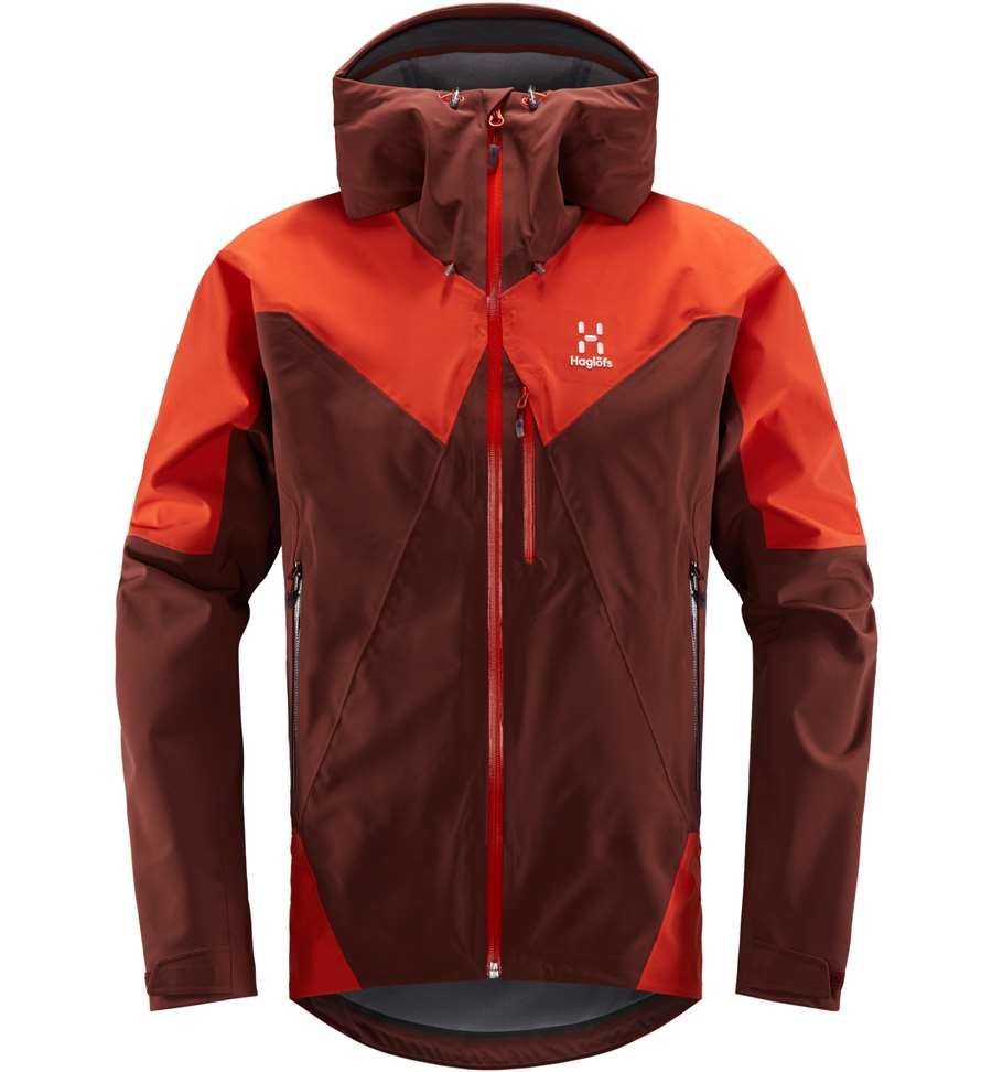 Haglöfs L.I.M Touring Proof Jacket Men - Maroon Red/Habanero