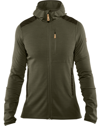 Fjällräven Keb Fleece Hoodie Men [Laurel Green/Deep Forest]