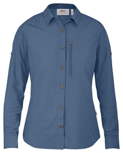 Fjällräven Abisko Hike Shirt LS Women [Blue Ridge]