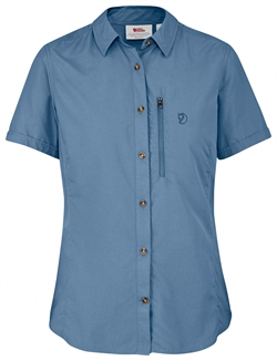Fjällräven Abisko Hike Shirt SS Women [Blue Ridge]