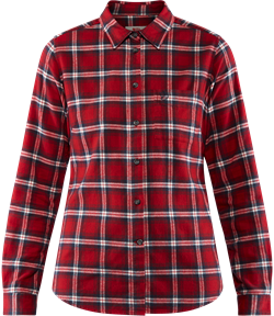 Fjällräven Övik Flannel Shirt Women [Deep Red]