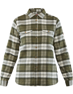 Fjällräven Övik Heavy Flannel Shirt Women [Green]