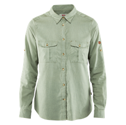 Fjällräven Övik Travel Shirt LS Women [Sage Green]