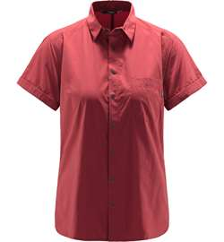 Haglöfs Idun Lite SS Shirt Women - Brick Red
