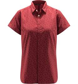 Haglöfs Idun SS Shirt Women [Brick Red Flower]