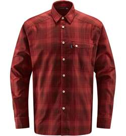 Haglöfs Tarn Flannell Shirt Men - Maroon Red/Brick Red