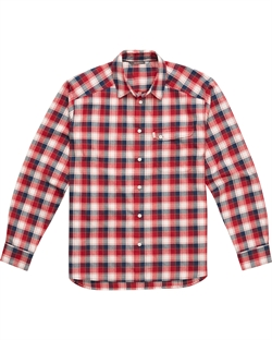 Haglöfs Tarn Flannell Shirt Men - Real Red/Blue Ink