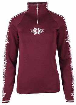 Dale of Norway Geilo Feminine Sweater - Ruby/Off White