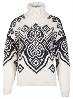 Dale of Norway Falun Feminine Sweater - Off-White/Black