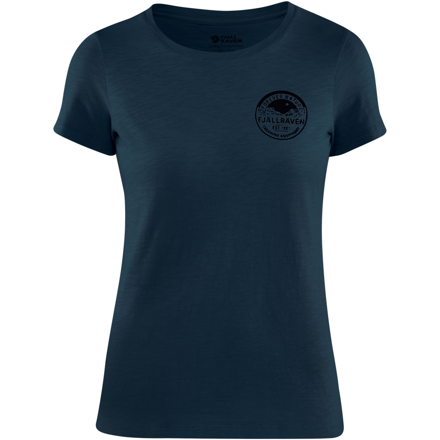Fjällräven Forever Nature Badge T shirt Women [Navy]