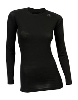 Aclima LightWool Crew Neck Woman [Jet Black]