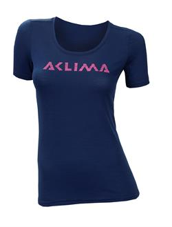 Aclima LightWool T-shirt Logo Woman [Insignia Blue]