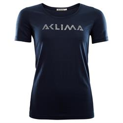 Aclima LightWool T-shirt Logo Woman [Navy Blazer]