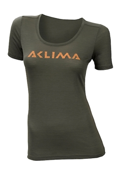 Aclima LightWool T-shirt Logo Woman [Ranger Green]