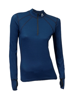 Aclima LightWool Zip Shirt Woman [Insignia Blue]