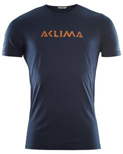 Aclima LightWool T-shirt Logo Man - Navy Blazer - T-shirt