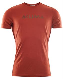 Aclima LightWool T-shirt Logo Man - Red Ochre - T-shirt