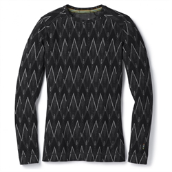 Smartwool: Women's Merino 250 Baselayer Pattern Crew [Black/Charcoal Heather]
