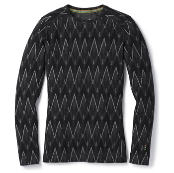 Smartwool: Women\'s Merino 250 Baselayer Pattern Crew [Black/Charcoal Heather]