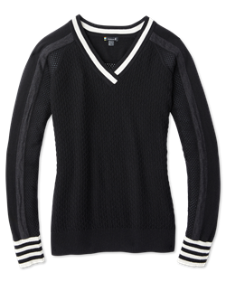 Smartwool: Women's Frosted Valley V-Neck Sweater [Black]