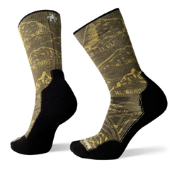 Smartwool: Unisex PhD Outdoor Light Prominent Peaks Print Crew Socks [Loden]