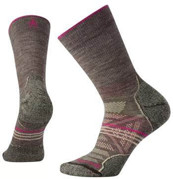 Smartwool: Women\'s PhD Outdoor [Taupe] Light Crew