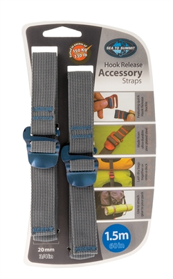 Sea to Summit: Accessory Hook Straps 20mm [1.5m] Blue